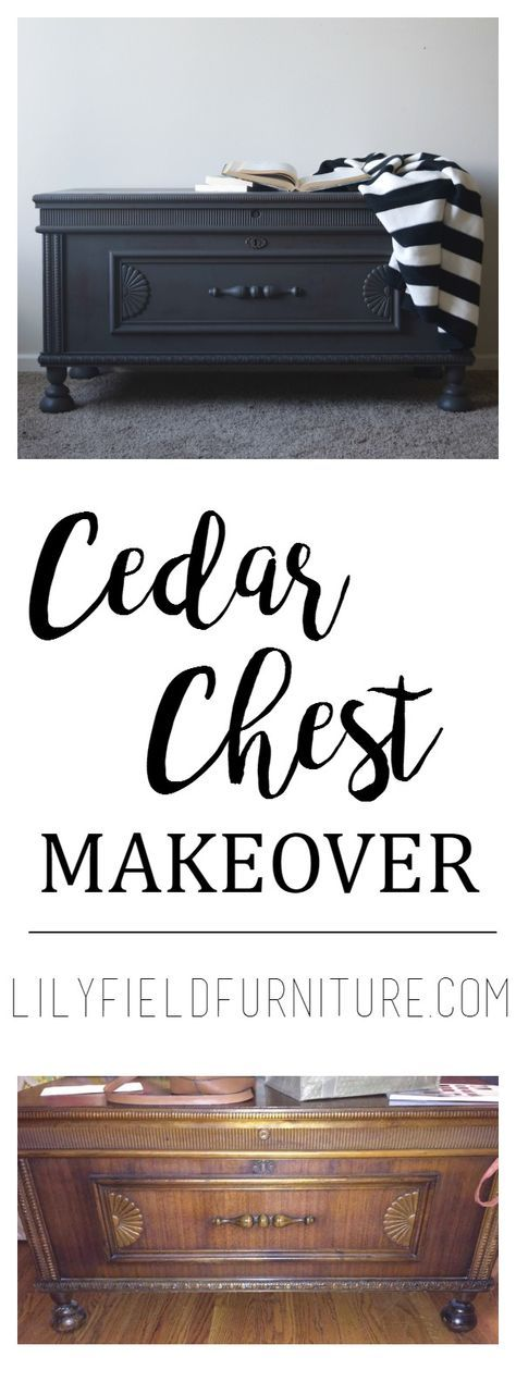 Cedar Chest Makeover add  something to make little legs to raise up a little off the floor