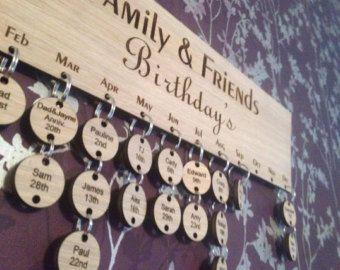 Extra schijven voor onze familie verjaardag Boards houten door Crafu