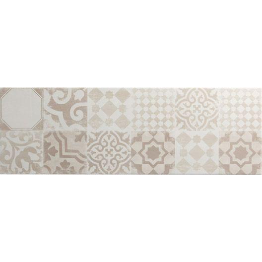 Carrelage mural d cor tadelak premium en fa ence mix for Carrelage mural blanc 20x20