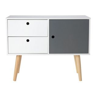 Buy Hygena Alto 1 Door 2 Drawer Sideboard - White & Grey at Argos.co.uk - Your Online Shop for Limited stock Home and garden, Coffee tables, sideboards and display units.
