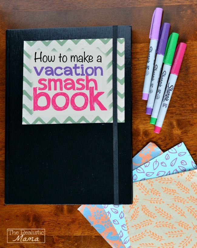 How cool -- a journal & scrapbook combination. Kids can make one of these smash books on our next family vacation!