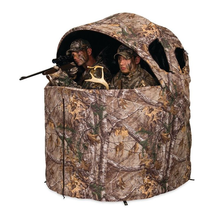 Ground Hunting Blind Tent Chair 2 Person Deer Hunt Camo  portable camouflage New #GroundHuntingBlind
