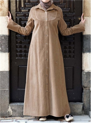 SHUKR+International+ +Corduroy+Shirtdress+Jilbab