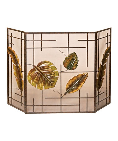 Tropical Fireplace Screen