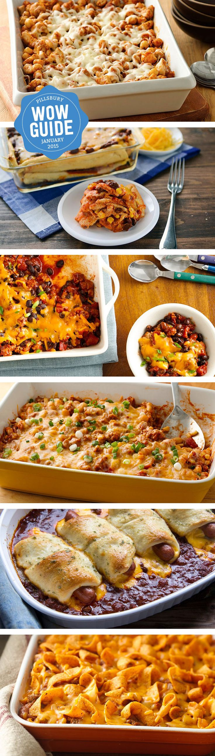 Check out our collection of 6 easy, cheesy chili bakes. Perfect for a weeknight dinner or serve with tortilla chips for a game-day dip.