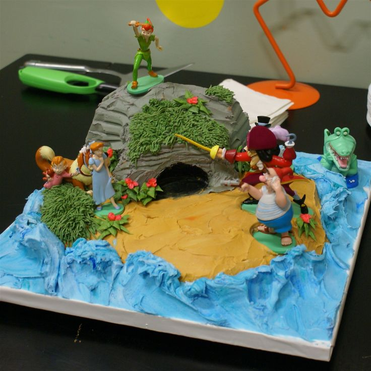 Peter Pan Birthday Cake Toppers