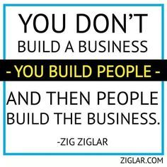 Build people...