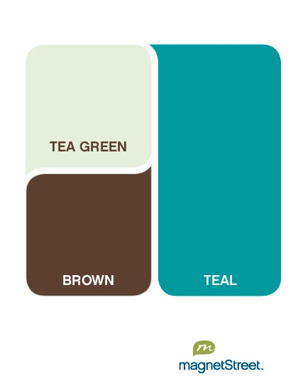 for where but i like this color palette teal with tea green and brown