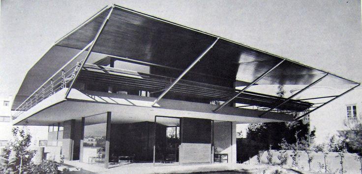 Takis Zenetos - Summer residence at Glyfada-1967- Demolished