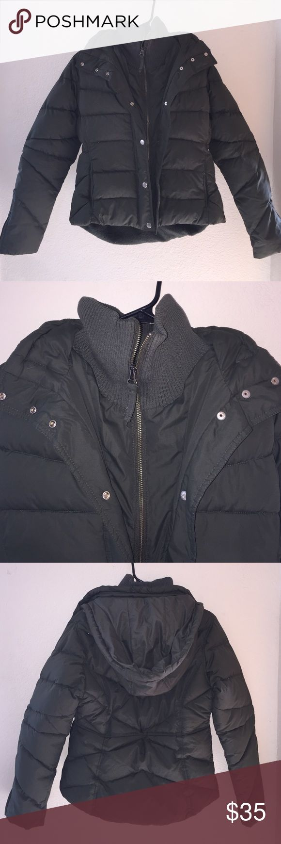 Bitten Army Green Puff Coat Excellent condition! Size is a M, fitted. Brand is bitten by Sarah Jessica Parker. Bitten  Jackets & Coats Puffers