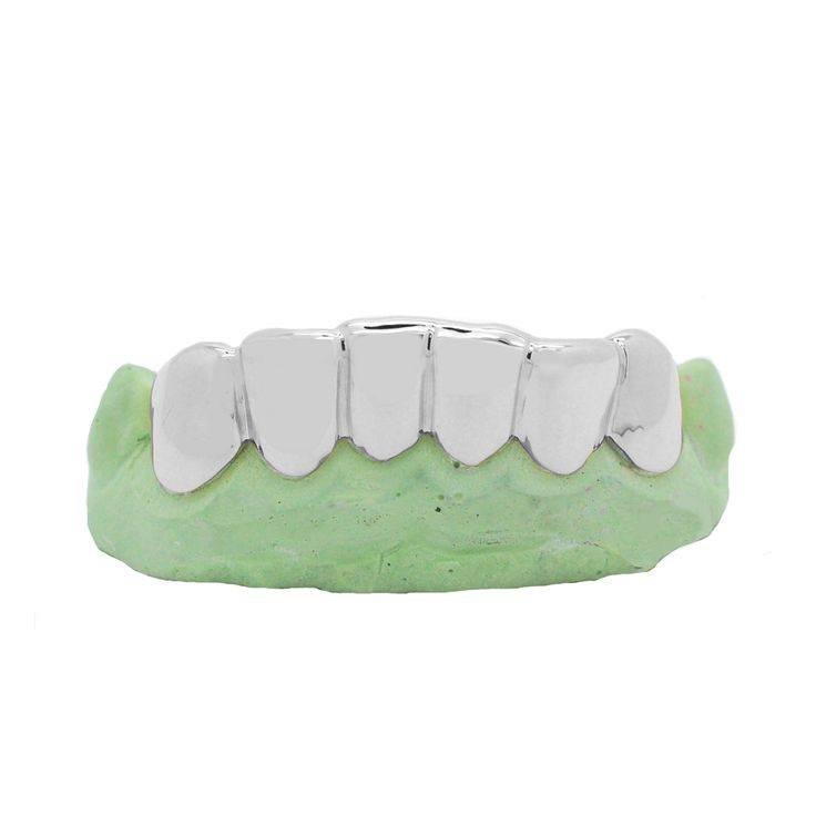 #White #Gold #Solid #Grillz