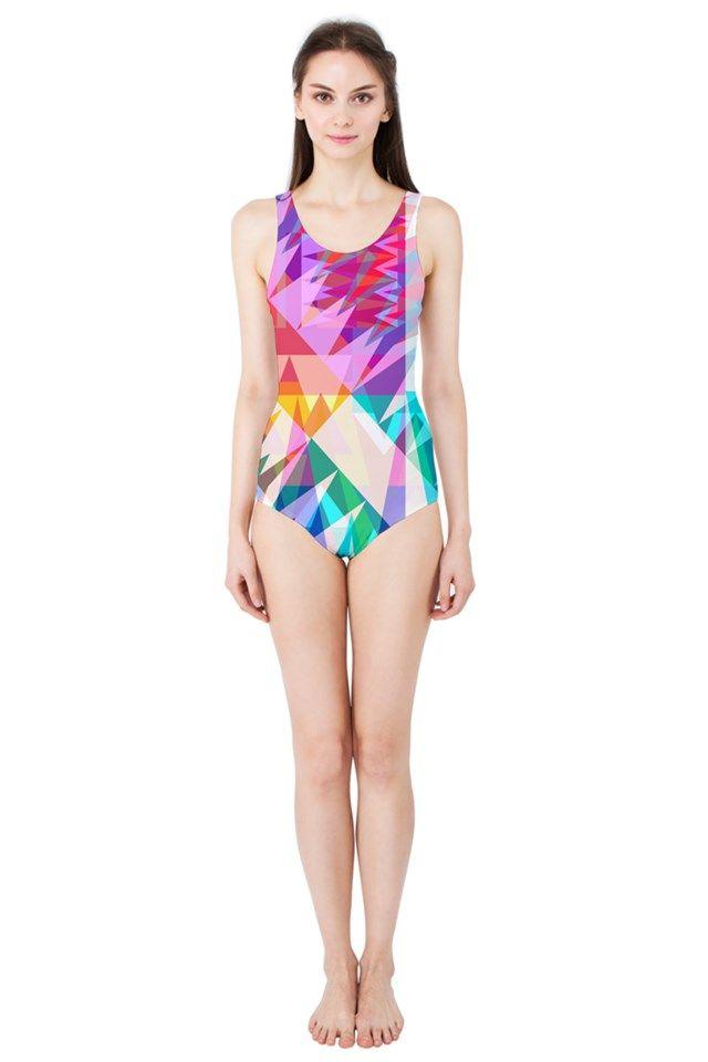 Triangle Feast_MirandaMol Women's One Piece Swimsuit #pinkcess #mirandamol #fashion #cool #beachwear #swimsuit #beach #summer #pinkcess #pinkcessfashion #pnkx