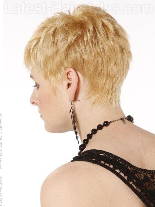 Pixie Shag Cut with Longer Bangs Sculpted Back