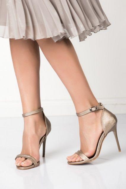 Platin Topuklu Ayakkabı 9922112609