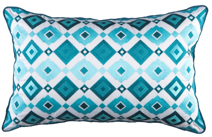 Kas Giselle Teal Cushion from Domayne