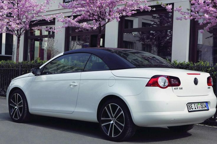 Rear Valance with Carbon Fiber Look for Volkswagen Eos 1F