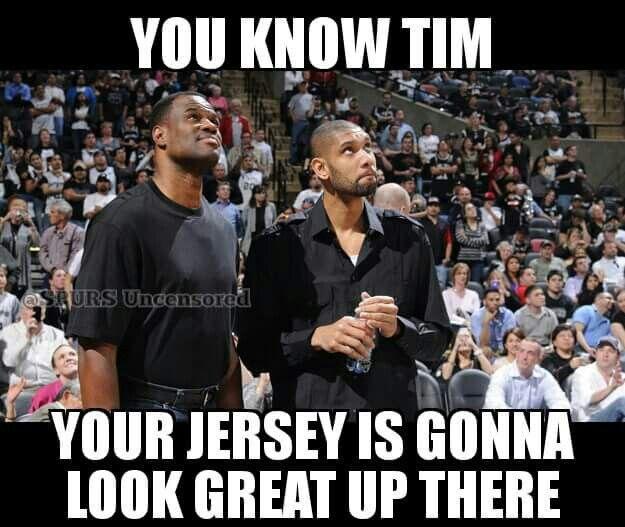 Spurs David Robinson and Tim Duncan