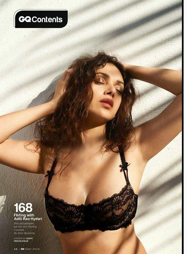Aditi Rao Hydari Sexiest Photoshoot for GQ Magazine MAY 2015 edition ~ Bollywood Glitz 24 - Hot Bollywood Actress