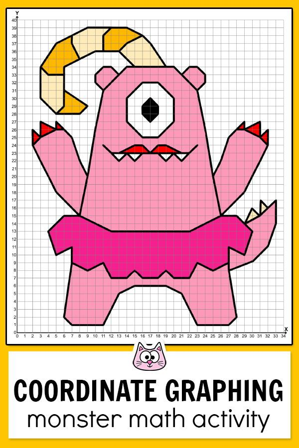 Monsters Coordinate Graphing Pictures Ordered Pairs Activity