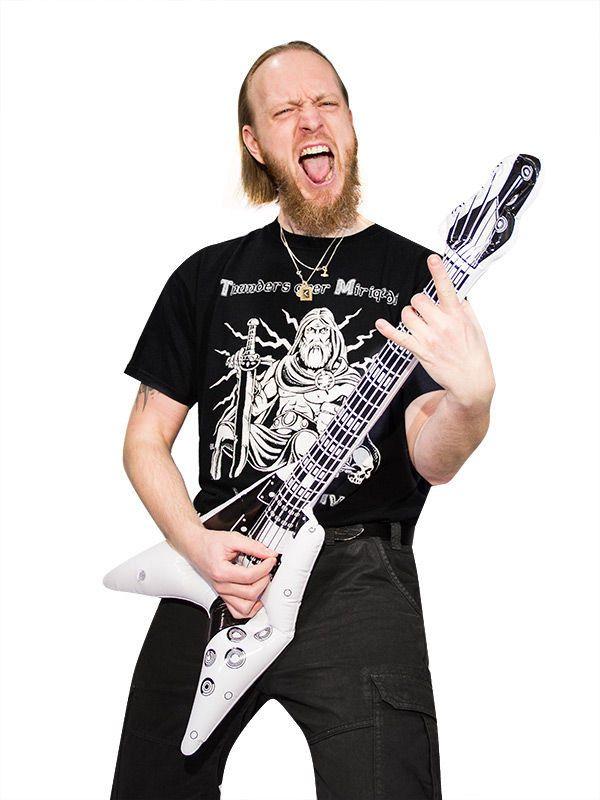 Aufblasbare Gitarre V-Form weiss-schwarz 100cm. Aus der Kategorie Karneval Zubehör / Karneval Aufblasartikel. Wer einmal ein echter Rockstar, Gitarrenheld und Bühnengott werden will, der fängt am besten schon einmal auf der Luftgitarre an! Für Musikfreunde mit Humor!