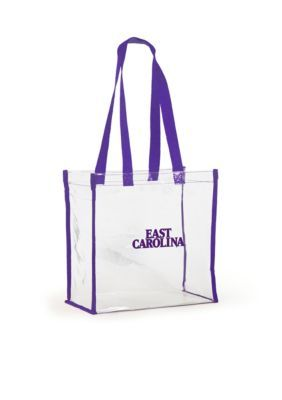 Desden  East Carolina University Clear Stadium Tote - Purple - One Size