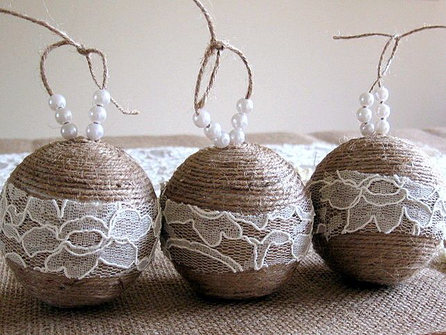 30 DIY Rustic Christmas Ornaments Ideas | moco-