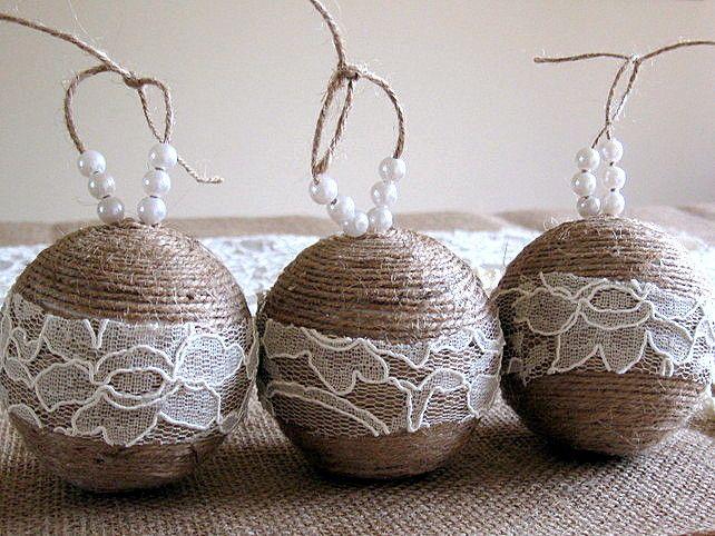 30 DIY Rustic Christmas Ornaments Ideas   moco-