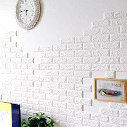 1000 ideas sobre paredes de ladrillo de imitaci n en - Papel pintado adhesivo pared ...
