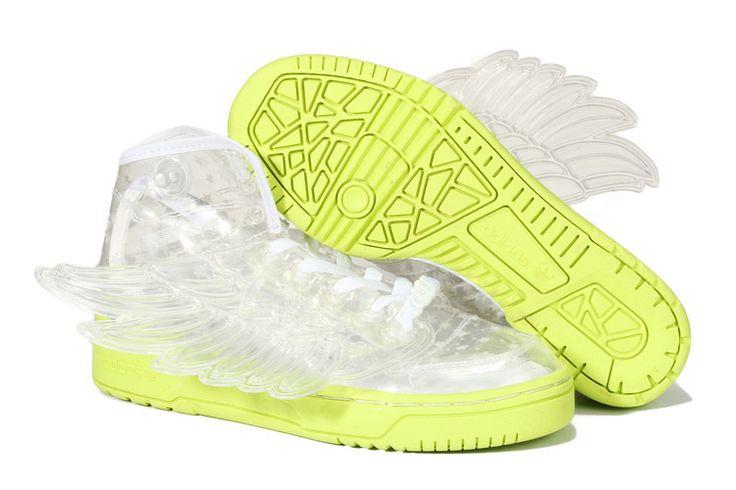 Adidas Jeremy Scott Wings GS - Chaussure Adidas Pas Cher Pour Femme/Enfant Transparent/Jaune