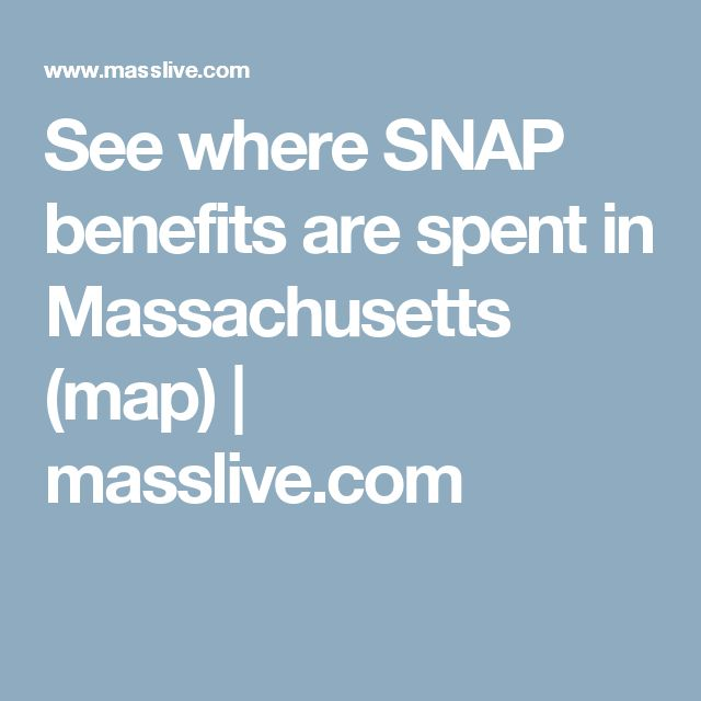 See where SNAP benefits are spent in Massachusetts (map) | masslive.com