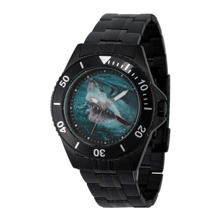 Men's Discovery Channel Shark Week Honor Black Stainless Steel Watch - Black