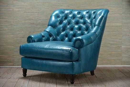 Another Turquoise Leather Chair Perfect Furniture