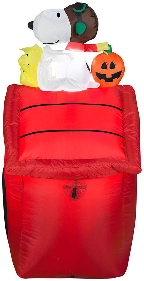 3.5' Airblown Snoopy Red Baron Peanuts Halloween Inflatable