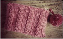 cable knit purse pattern