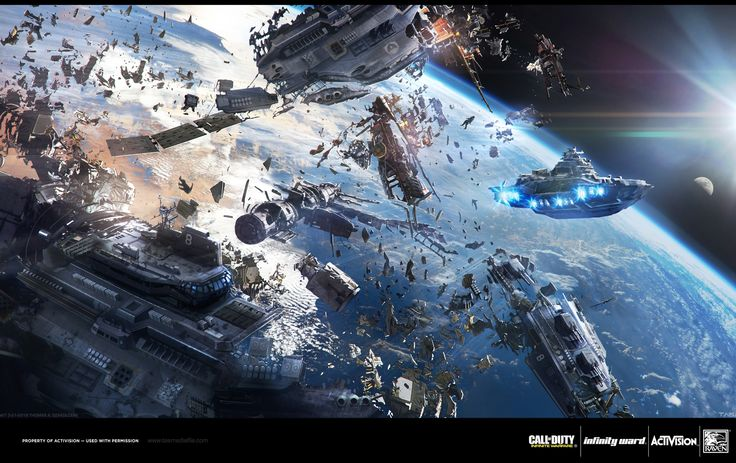 ArtStation - Space Concepts - Call of Duty: Infinite ...
