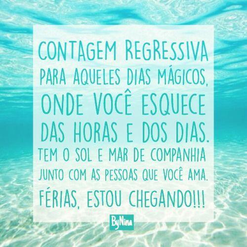 Contagem regressiva: Férias!!! #amo #praia #sol #mar #sup #standuppaddle #férias #surf #supwave #supyoga #frases #bynina #instabynina