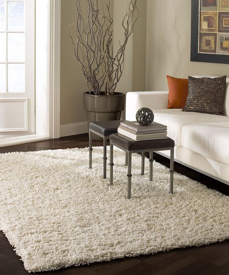 Go cheap in order to get big enough rug to cover ugly floors