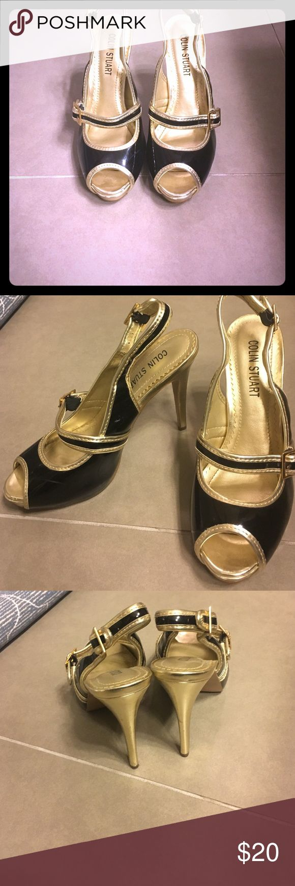 Colin Stuart peep toe Mary Janes Like new. Had a baby and can't wear heels any longer. Colin Stuart Shoes Heels