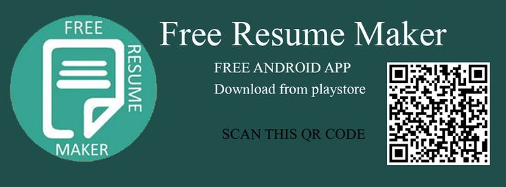 Resume Maker is a free Android app, especially made for employees - free resume maker and download
