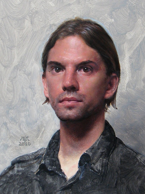 Portrait oil on canvas by Anthony Ryder