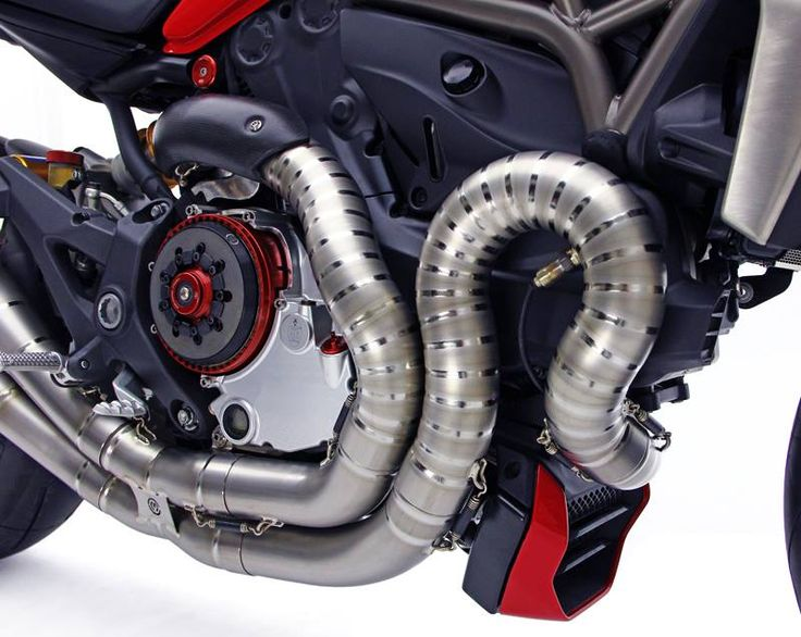 "Racing Cafè: Moto Corse Titanium Exhaust ""Due Gemelli Dvxi"" for Ducati Monster 1200"