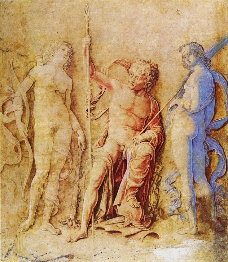 Andrea Mantegna (Isola di Cartura, about 1430/31 - Mantua, 1506)  Mars, Venus and Diana  Drawing  Public collection