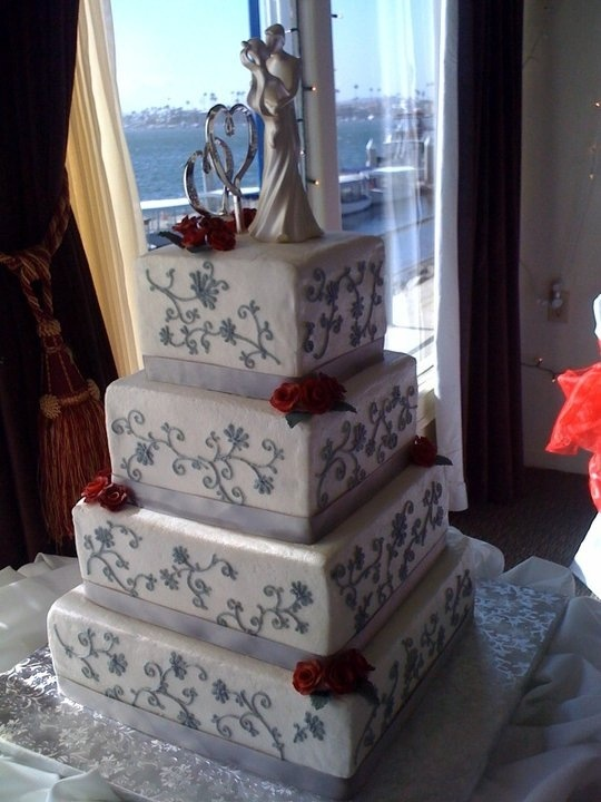 red and silver wedding cake silver and theme wedding cake wedding cakes 19087