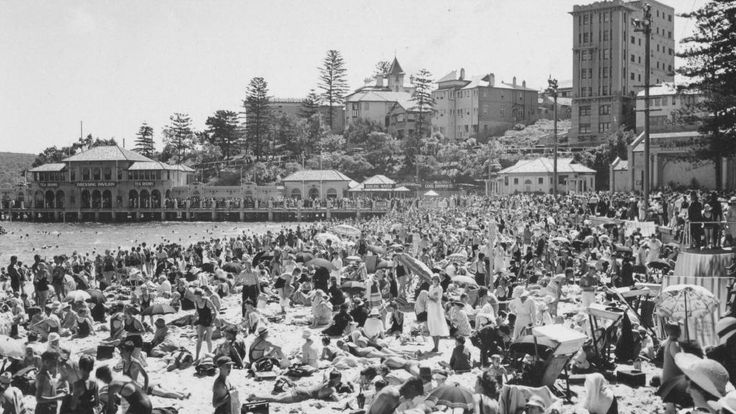 Manly harbour pool was a huge pull for tourists.