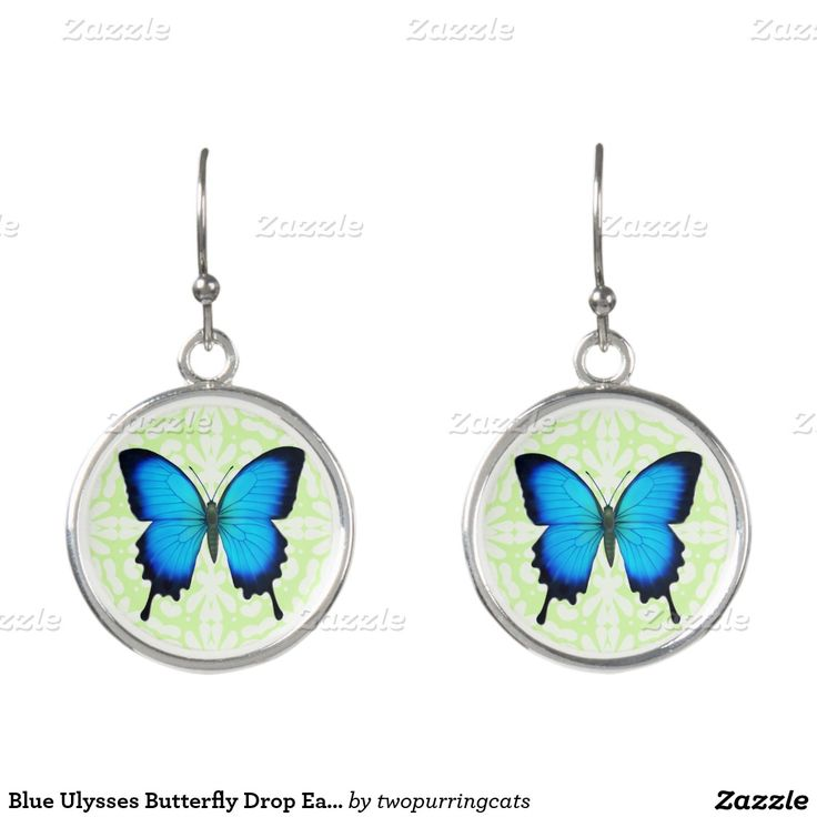 Blue Ulysses Butterfly Drop Earrings. Regalos, Gifts. #DiaDeLasMadres #MothersDay