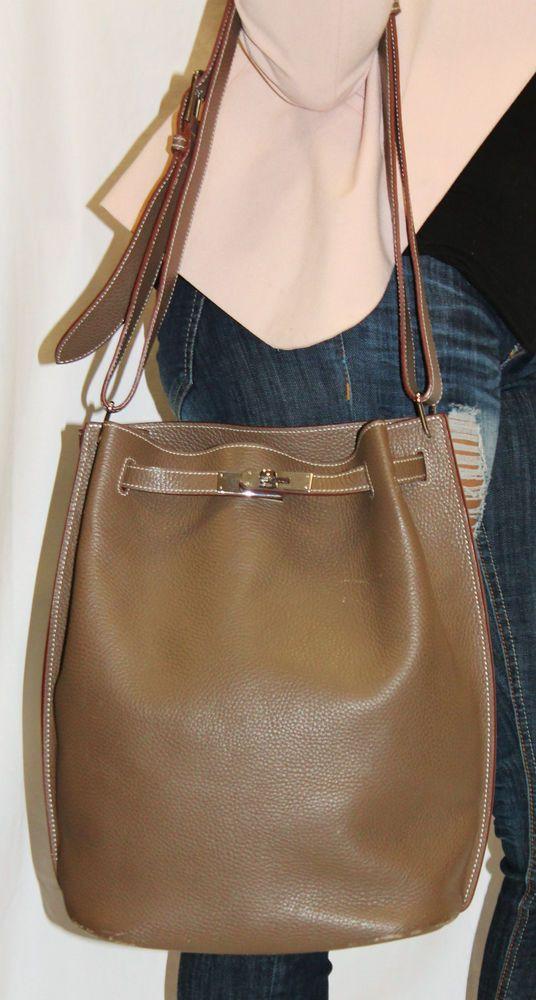 Hermes Gray So Kelly 22 Handbag