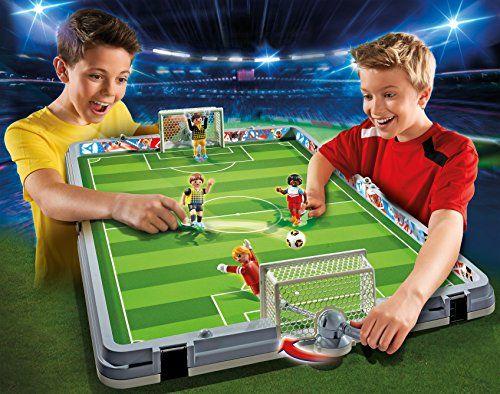 Playmobil – Set de fútbol, maletín (68570)