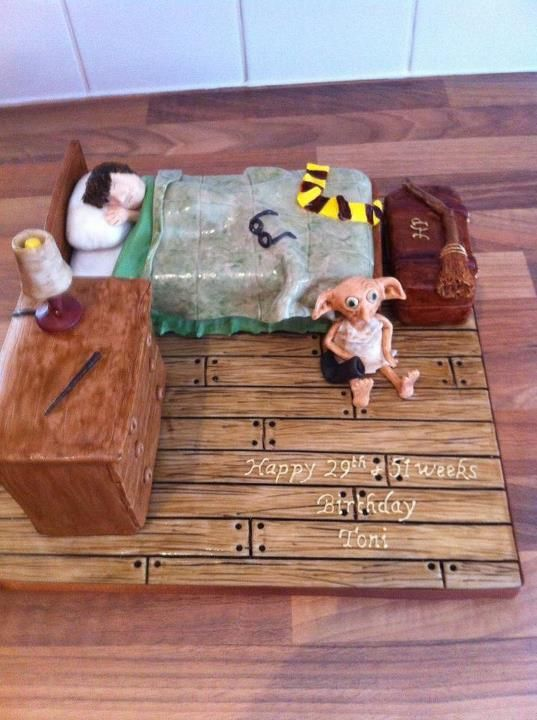 Harry Potter cake made by my aunt, Annie Thomas. Expecto ...