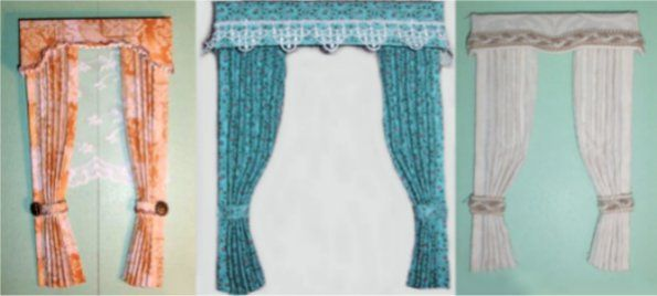 learn to make dollhouse miniatures curtains