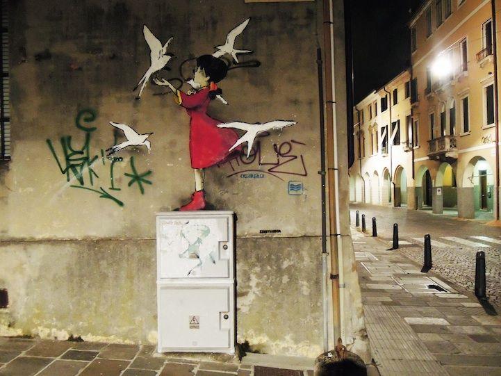 Sweet Street Art by Kenny Random.